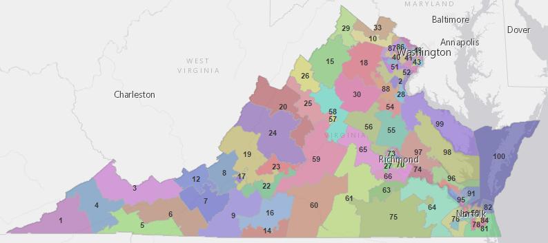 Virginia delegate map